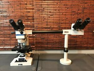 Reichert jung leica 410 Microstar 4 Microscope With Teaching Attachment nice