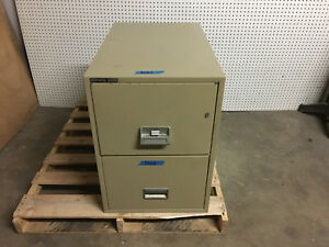Schwab 5000 Fireproof 2 Drawer Legal Sized Lockable Filing Cabinet With 2 Keys