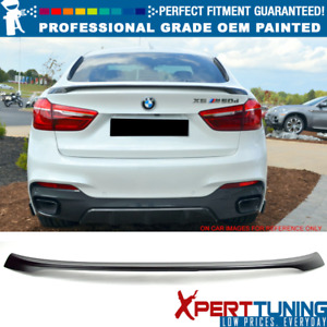 Fits 15 18 Bmw F16 X6 F86 X6m Performance Abs Trunk Spoiler Oem Painted Color