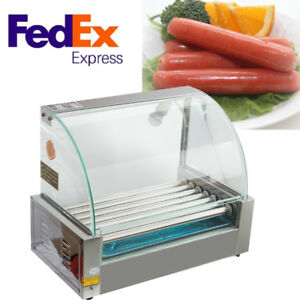 Usa Quality Commercial 18 Hot Dog Hotdog 7 Roller Grill Cooker Machine W Cover