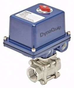 Dynaquip Electric Actuated Steel Ball Valve 1 Pipe 1awh6 e3s25aje21 New