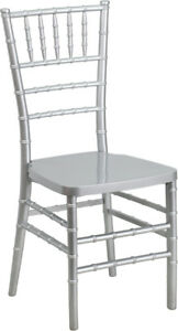 Silver Resin Chiavari Chair Commercial Quality Stackable Wedding Chair