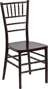 Mahogany Resin Chiavari Chair Commercial Quality Stackable Wedding Chair