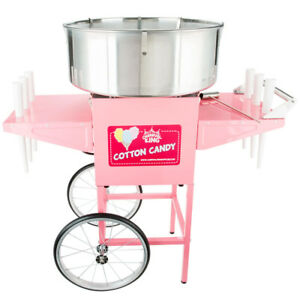 New Carnival King Cotton Candy Machine Maker Cart Stand Commercial Concession