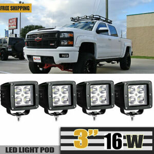 4x 48w 12v 24v Lamp Led Work Light Flood Boat Tractor Truck Offroad Suv Ute 4wd