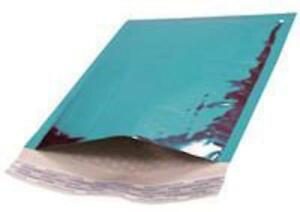 000 Metallic Teal Bubble Mailers Padded Envelopes 4 25 X 7 100 Pieces
