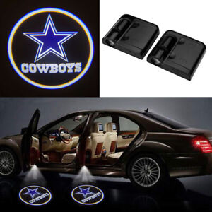2pcs Dallas Cowboys Logo Wireless Car Led Door Projector Ghost Shadow Lights