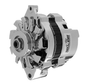 Tuff stuff 80 Amp Fits Gm 1 wire Chrome Mini Alternator P n 7937a