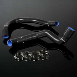 Gplus Silicone Radiator Hose Kit For 91 01 Jeep Cherokee Xj 4 0 L6 Black 2pcs