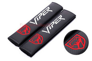 Car Auto Seat Safety Belt Pad Cover Shoulder Strap Cushion Viper Logo For Dodge