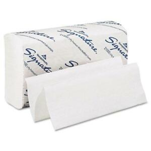 Premium White Multifold Paper Towels 125 2 ply Pacific Blue Selected 16 Packs