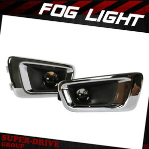 Fog Lights Lamps Set For 2004 2012 Chevy Colorado Assembly Driving Fog Lights