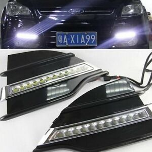 2x Led Daytime Running Fog Lights Lamp Drl Control For Ford Escape Kuga 13 2014