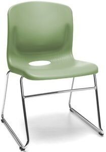 Multi use Sled Base Olive Plastic Stack Office Side Chair Waiting Room Chair