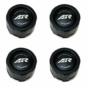 4x American Racing Black 3 1 2 Od Snap In Wheel Center Hub Caps For Ar681