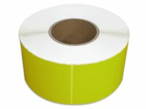 Yellow Color Thermal Transfer Labels Required Ribbon 4 X 6 1000 rl 8 Rolls