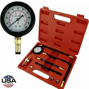 Oil Pressure Tester Gauge Engine Diagnostic Tester Auto Transmission Test Tool