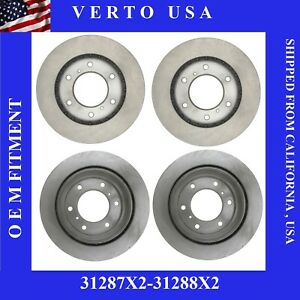 Front Rear Brake Rotors For Mitsubishi Montero 2001 2002 2003 2004 2005 2006