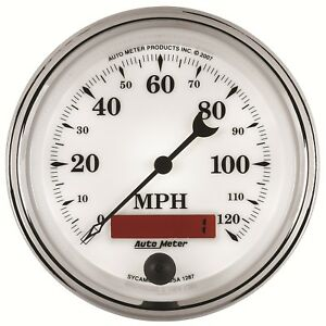 Autometer 1287 Old Tyme White Ii In dash Electric Speedometer