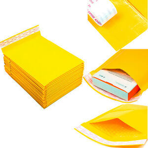 250 0 6 X 10 Poly Paper Padded Bubble Envelopes Self Seal Mailers Shipping Bags