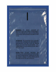 6000 Clear Plastic Self Adhesive Resealable Poly Bag 10 x13 Suffocation Warning