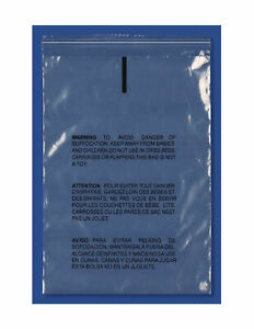 Resealable Suffocation Warning Poly Bag 10 X 13 1 5 Mil Self Seal Clear 8000