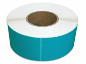 4 X 6 Blue Thermal Transfer Color Labels Required Ribbon 1000 rl 28 Rolls