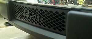 2009 2014 Ford F 150 Lariat Small Diamond Powder Coated Black Lower Grille