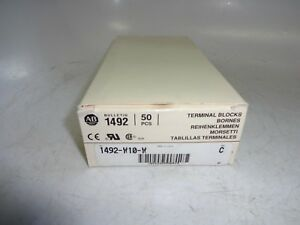 Allen bradley 1492 w10 w Terminal Block 50a 600v 10mm White box Of 50
