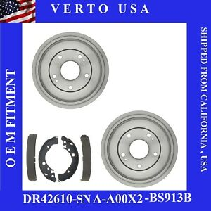 Rear Brake Drums Brake Shoes For Honda Civic 2006 2007 To 2015 Base On Chart