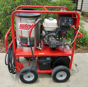 Demo Hotsy 1075sse Gas Engine Hot Water Pressure Washer sn 164811 1 110 012 0