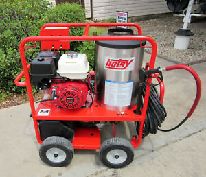 Demo Hotsy 1075sse Gas Engine Hot Water Pressure Washer sn 165613 1 110 012 0
