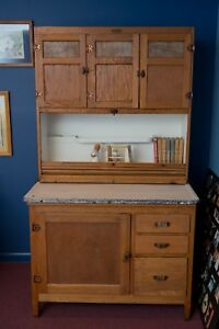 Antique Mcdougall Hoosier Cabinet Oak