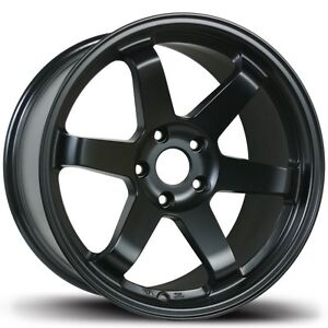 Avid1 Av06 17x8 35 5x100 Full Matte Black Concave Set Of 4