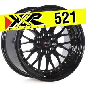Xxr 521 18x10 5 114 3 5 120 25 Full Gloss Black Wheels Set Of 4 Classic Mesh