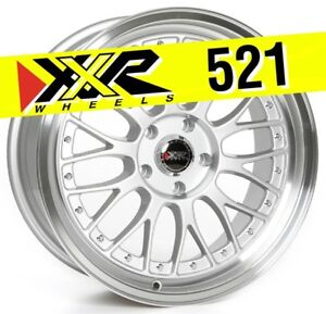 Xxr 521 18x8 5 5 114 3 25 Hyper Silver Wheels Set Of 4 Classic Mesh