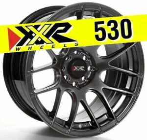 Xxr 530 16x8 25 4x100 4x114 3 0 Chromium Black Wheels Set Of 4