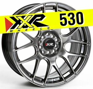 Xxr 530 17x8 25 4x100 4x114 3 25 Chromium Black Wheels Set Of 4