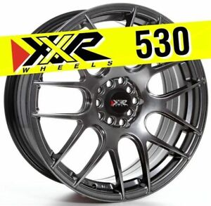 Xxr 530 18x7 5 5x100 5x114 3 38 Chromium Black Wheels Set Of 4