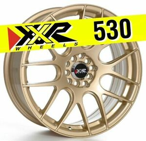 Xxr 530 18x7 5 5x100 5x114 3 38 Gold Wheels Set Of 4