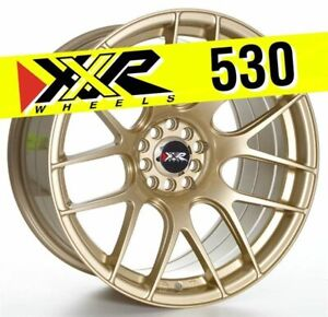 Xxr 530 18x9 75 5x100 5x114 3 20 Gold Wheels Set Of 4