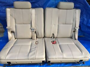 07 14 Chevrolet Tahoe Suburban Gmc Yukon 3rd Row Seats Tan Beige Leather Chevy