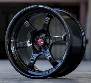 Aodhan Ah08 18x9 5 30 5x114 3 Full Gloss Black Non staggered set Of 4