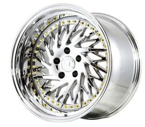 Aodhan Ds03 18x9 5 30 18x10 5 22 5x114 3 Vacuum Chrome Staggered set Of 4