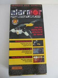 Brand New Anti Theft Car Steering Wheel Security Lock With Alarm