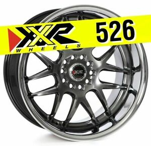 Xxr 526 18x10 5 5x114 3 5x120 20 Chromium Black Wheels Set Of 4