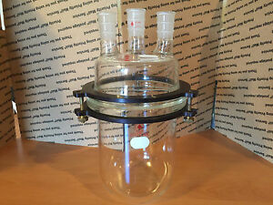 2000ml Reaction Vessel With Clamp And Lid New