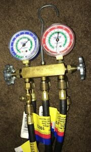 Ritchie Yellow Jacket Hvac Refrigerant Test Charging Manifold Gauge