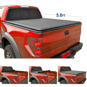 New 5 8 Ft 68 Bed Soft Roll Lock Tonneau Cover For Silverado Crew Cab 2004 06