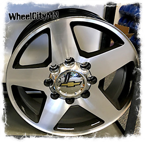 20 Inch Gloss Black Machine 2013 Chevy Silverado 2500 3500 Oe Replica Rims 8x6 5